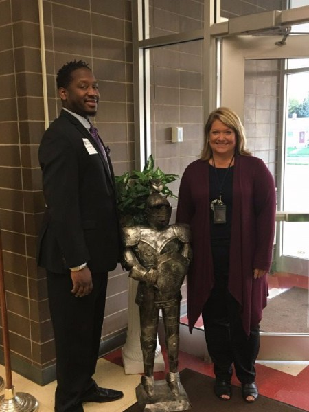 Mr. Steffan Rice and Mrs. Diane Pelkington Principal for a Day